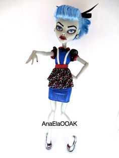 ON HOLD Monster High OOAK Custom Repaint Ghoulia Yelps by AnaElaOOAK on Etsy