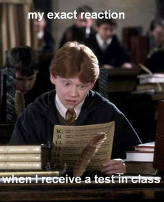 Both when you get the test to write and when you receive your mark...