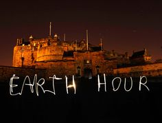 Earth Hour... Uniting people to protect the planet