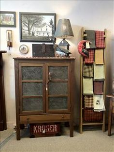 Pie safes.  I want one for every room in my house.  Storage galore.  My safe came from the Myrtles Plantation in Louisiana.
