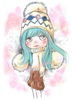 amazing lovely blythe drawing