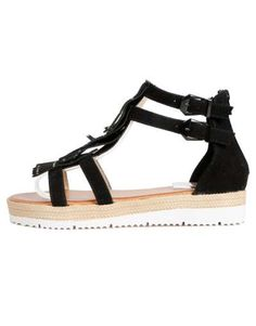 ΝΕΕΣ ΑΦΙΞΕΙΣ :: Σανδάλια Fringes and Strass Black - OEM Sandals, Shoes, Black, Fashion, Moda, Shoes Sandals, Zapatos, Shoes Outlet, Black People