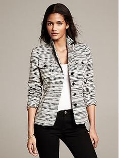 Heritage Textured Safari Blazer - almost perfect - wish there were not breast pockets