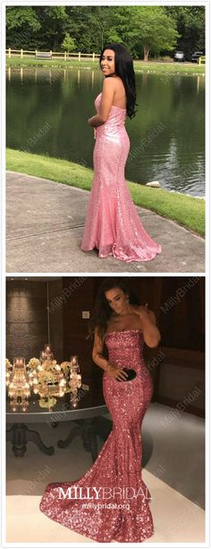 Pink Formal Dresses Long, Mermaid Prom Dresses for Teens, Sequined Military Ball Dresses Sexy Pageant Graduation Party Dresses Strapless Pageant Dresses For Teens, Sparkly Prom Dresses, Cute Homecoming Dresses, Strapless Prom Dresses, Unique Prom Dresses, Mermaid Evening Dresses, Party Dresses, Graduation Dresses, Hoco Dresses