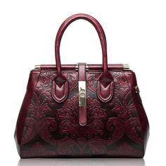 fc0832d96aecf Hot-sale designer Genuine Leather Shoulder Bag Embossed Women Bag New  Fashion Flowers Printed Totes Bags Online - NewChic Mobile