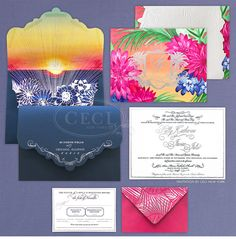 Luxury Wedding Invitations by Ceci New York - Our Muse - Sunny, Tropical Wedding in Florida - Be inspired by Sally & Javier's vibrant, tropical wedding in Florida - #cecinewyork #weddinginvitation #luxuryweddinginvitation #cecijohnson #watercolor #painting #watercolorweddinginvitation #customweddinginvitations #bellyband #envelopeliner #letterpress #foil #stamping #tropicalweddinginvitation #florida