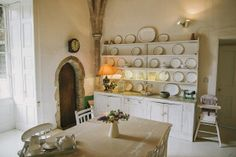 House kitchen Country House Wedding Venues, Secret Escapes, Renting A House, Home Kitchens, Shelves, Romantic, Interiors, Home Decor, Photography