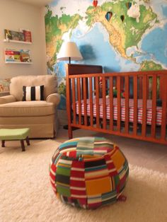 travel themed nursery. I'm just a sucker for maps.