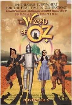 The Wizard of Oz, my dream is to one day own all these old movie posters!!!