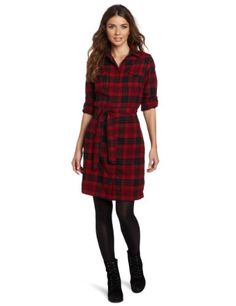Woolrich Women's Pemberton Dress « Clothing Impulse Flannel Dress, Plaid Flannel, Red Plaid, Tartan, Teaching Outfits, Teaching Clothes, Cool Style, My Style, Contemporary Fashion