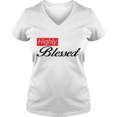 Highly Blessed white tee