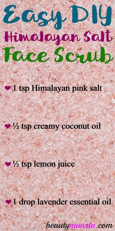Make this Himalayan salt and coconut oil scrub for pretty skin! I can't stop gushing about the amazing beauty benefits of Himalayan salt! It not only looks so beautiful with its pretty pink color but is also the purest salt in the world! Here are some benefits of this gorgeous salt for beautiful skin: Gently … #EverydayBeautyRoutine Coconut Oil Scrub, Salt Face Scrub, Body Scrub, Beauty Hacks For Teens, Luscious Hair, Home Remedies For Hair, Beauty Care, Beauty Tips, Skin Care