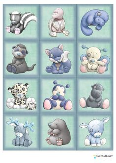 My Blue Nose Friends grouping 2 Tatty Teddy, Cute Images, Cute Pictures, Animal Drawings, Cute Drawings, Baby Animals, Cute Animals, Blue Nose Friends, Baby Art