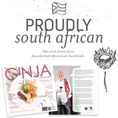 Take a look at some of our favourite South African must-have brands featured in the October / November edition of GINJA Food & Lifestyle Magazine. #GinjaMag # FoodLifestyle