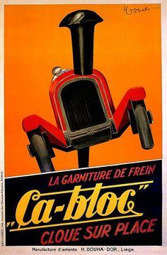 "1900's Ad for ""ça-bloc"" brakes"