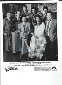 CHEERS 1990 TV SERIES CAST BAR DANSON BLACK & WHITE ORIGINAL VINTAGE PHOTO STILL