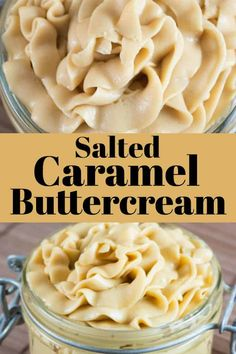 Salted Caramel Buttercream tastes like a cheesecake and is as smooth as silk! This icing goes perfectly with so many desserts! Salted Caramel Buttercream tastes like a cheesecake and is as smooth as silk! This icing goes perfectly with so many desserts! Best Dessert Recipes, Fun Desserts, Sweet Recipes, Delicious Desserts, Cake Recipes, Dc Cupcakes Recipes, Cupcake Filling Recipes, Caramel Buttercream Frosting, Salted Caramel Frosting