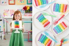 Thank you Lisa for this (and Martha, Martha, Martha!)....rainbow cake...beautiful!