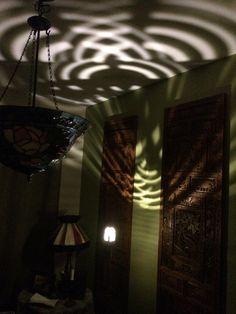 Light pattern from a mid EV Chandelier, Ceiling Lights, Lighting, Pattern, Home Decor, Homemade Home Decor, Candelabra, Ceiling Light Fixtures, Ceiling Lamp