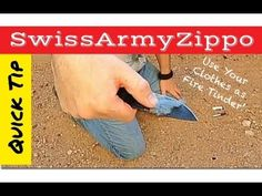 Fire-starting Lint from Your Jeans + Chapstick = Save Your Life! http://rethinksurvival.com/fire-starting-save-your-life-video/