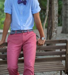 Nantucket Reds, bow tie and Ribbon belt