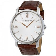 $875.00 (50% off) Classima Silver Dial Brown Leather Strap Men`s 42mm Watch 10144 @ Jomashop - Bargain Bro