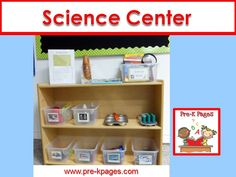 Science center ideas for preschool, pre-k, and kindergarten.
