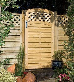 Buy the excellent Grange Fencing Ltd Elite St Meloir Gate by Grange Fencing Ltd online today. This highly desirable item is currently available - get securely on Garden Figments 'The Online Garden Design Shop' today. Timber Gates, Timber Fencing, Timber Deck, Form Design, Diy Design, Garden Buildings, Garden Structures, Outdoor Structures, Wooden Garden Gate