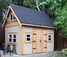 Ken used 3 of my shed plans to build this totally awesome and neat looking shed.  Thank you Ken for sending me your pic.