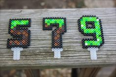 Minecraft Inspired Birthday Cake Topper - Number / Age Topper - Grass Block or Green Creeper Inspired Pixel Age Topper - Reusable