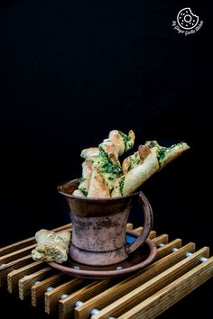 Pizza Dough Twists With Parsley And Sesame   mygingergarlickitchen.com/ @anupama_dreams