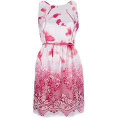 LIU JO mixed floral print dress (950 CNY) found on rose print dresses玫瑰印花连衣裙20130624