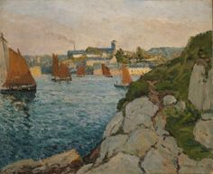 Maxime Maufra French, 1861-1918, Douarnenez in Sunshine
