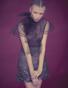 Yulia — wearing sheer Valentino top — by Wee Khim for L'Officiel Singapore, April 2011