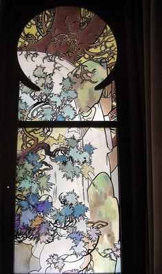 Stained glass by Alfons Mucha
