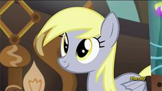 #916756 - animated, cute, derpy doing derpy things, derpy hooves, discovery family logo, eyes closed, head shake, safe, screencap, shake, slice of life (episode), smiling, solo, spoiler:s05e09, underp - Derpibooru - My Little Pony: Friendship is Magic Imageboard
