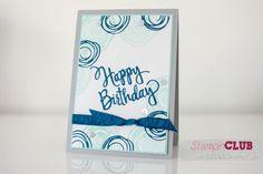 Stampin Up Swirly Bird Stylized Birthday