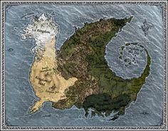 wonderfull Map of Pyrrhia the wings of fire kindoms | magnifique carte de Pyrrhia, les royaumes de wings of fire.