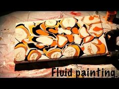 Fluid Acrylic Abstract Painting Technique - YouTube