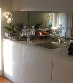 Top cucina ad isola in bianco carrara con doppio lavello inox ...
