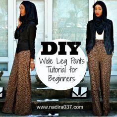Super easy wide leg pants tutorial for beginners