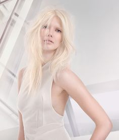 White Light look from the #SS15 Distilled Collection. Think: glacial, pure blonde.