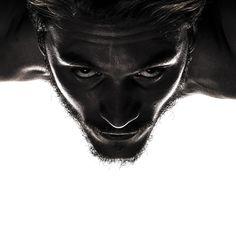 Blanco y Negro, agresivo, mirada, iluminacion