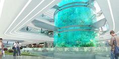 amphibianArc vertical water greenery dongfeng shopping mall china