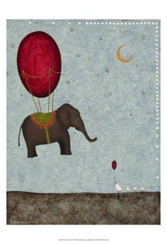 Another cool playroom print: The Arrival Print by Shari Beaubien at Art.com