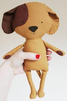 Dog Sewing Pattern Puppy Softie Plush Toy Cloth Doll por ElfPop