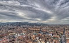 threatening sky over Bologna by dlddanilo
