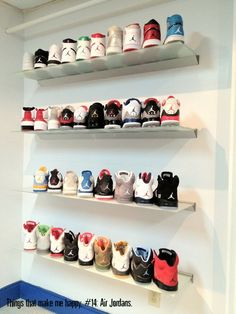 wall of Jordans #shoes