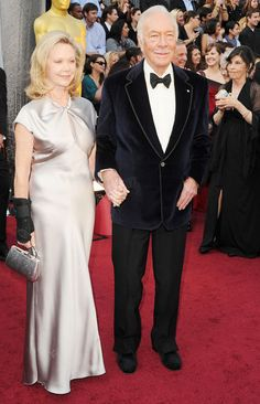 Supporting actor Oscar winner Christopher Plummer and wife Elaine Taylor