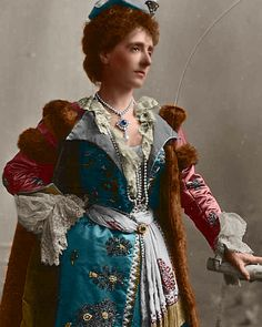 Marie Josephe, Queen of Poland, dressed for the Devonshire house ball, 1897